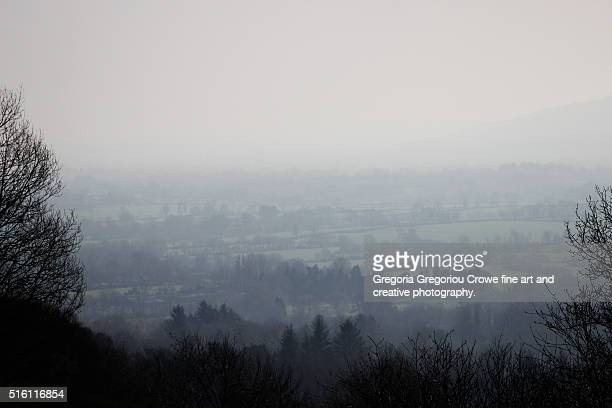 misty landscape - gregoria gregoriou crowe fine art and creative photography. stockfoto's en -beelden
