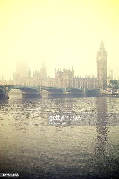 Misty London Big Ben and Houses of Parliament