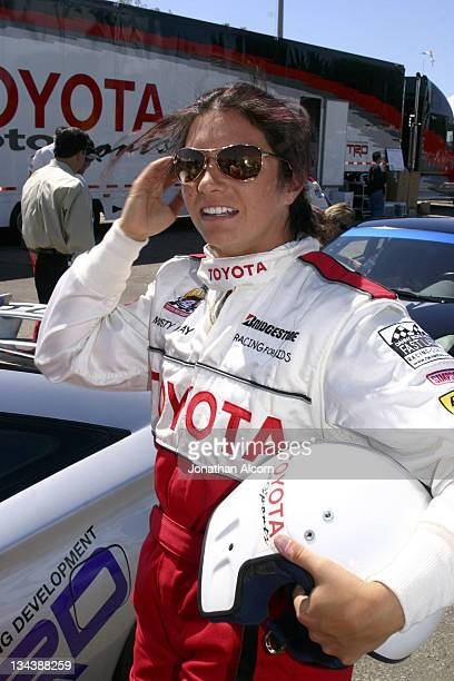 Misty May at practice preparing for the upcoming 2005 Toyota Pro/Celebrity Race at the Toyota Grand Prix of Long Beach California on March 29 2005...