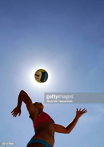 Misty May-Trenor of the United States of America in action during the third round match between Okka Rau and Stephanie Pohl of Germany at the Beach...