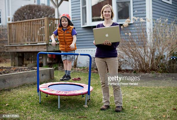 Misty McLaughlin was photographed in her back yard at her home with her son Iver McLaughlin left on Wednesday April 22 2015 McLaughlin is a nonprofit...