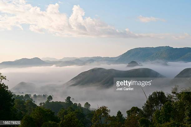 Misty mountains of Myanmar