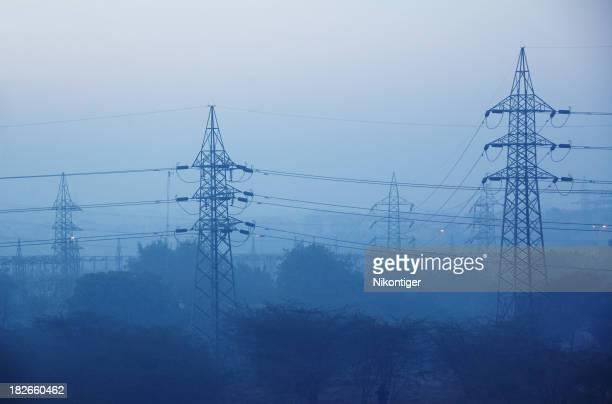 Misty Powerlines
