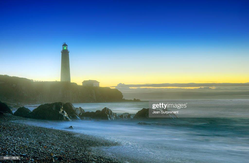 Misty sunrise seascape : Stock Photo