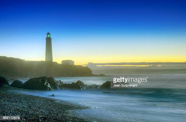 misty sunrise seascape - cap des rosiers stock pictures, royalty-free photos & images