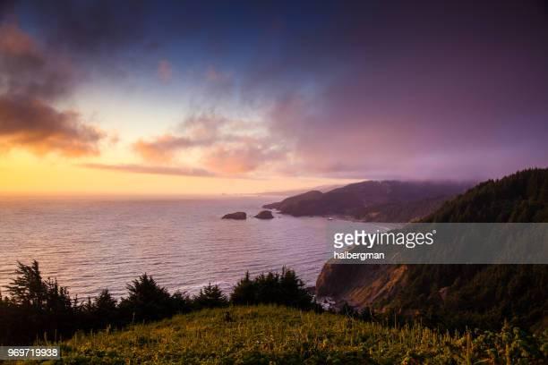 Misty Sunset on the Southern Oregon Coast
