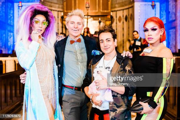 Misty Violet Patrick Simpson Pol Atteu and Marta BeatChu attend Sanctuary Fashion Week on March 7 2019 in Los Angeles California
