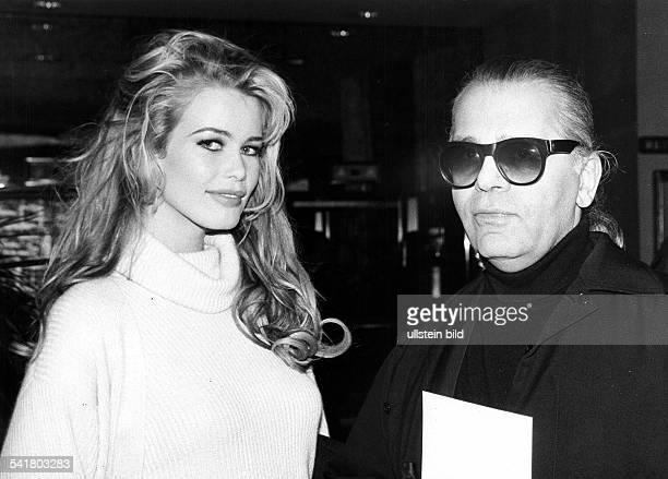 mit Modeschöpfer Karl Lagerfeld 1995