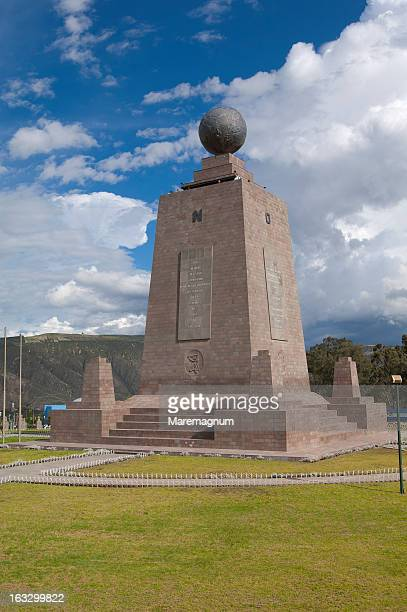 'Mitad del Mundo' equator line passage monument