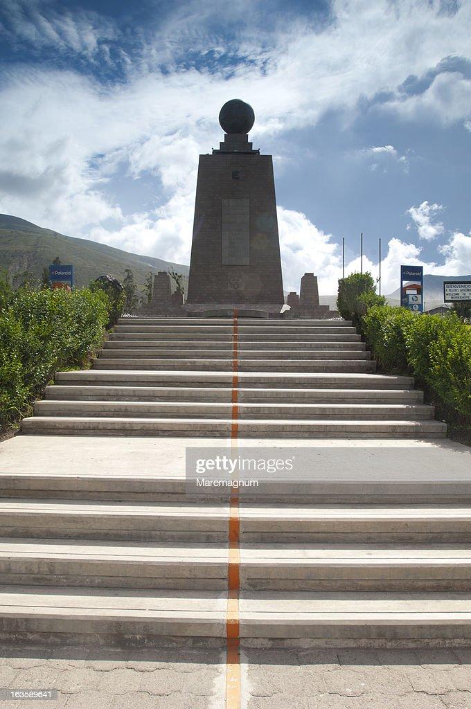Mitad del Mundo equator line passage monument : Stock Photo