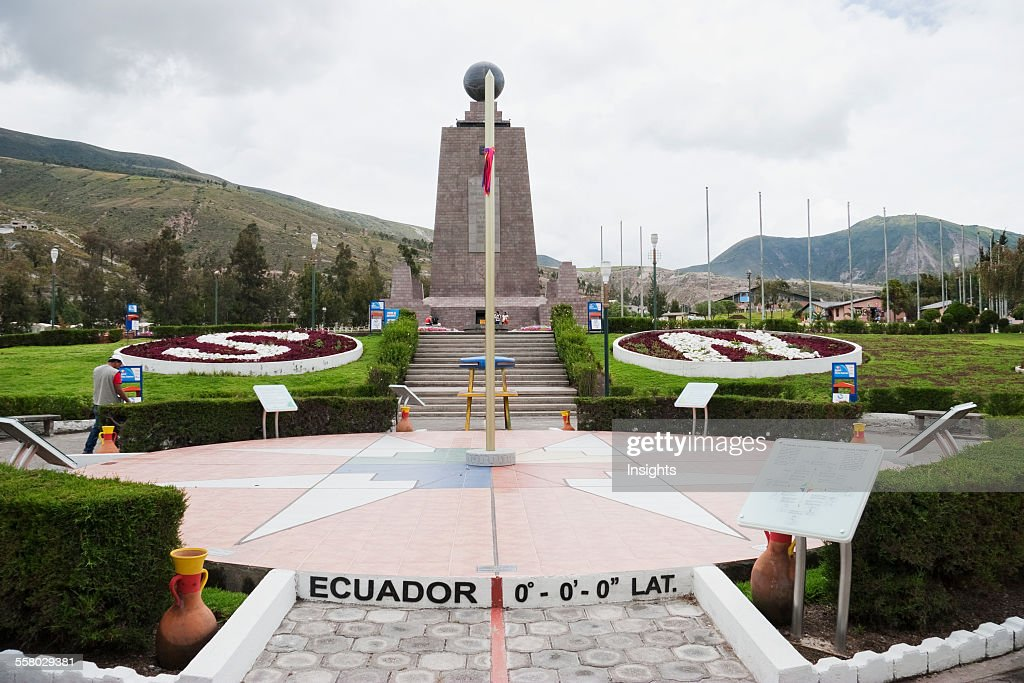 Mitad Del Mundo (Middle Of The World) Monument Near The Equator, Pichincha, Ecuador : News Photo
