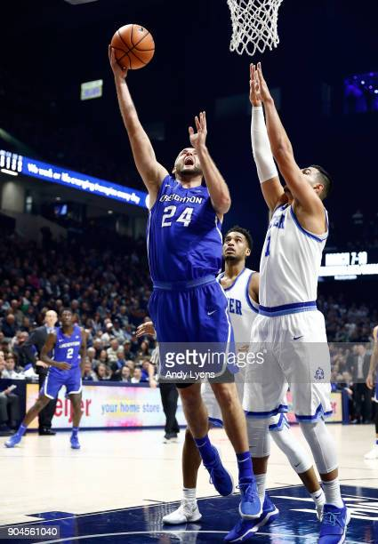 Mitch Ballock of the Creighton Bluejays shoots the ball against the Xavier Musketeers at Cintas Center on January 13 2018 in Cincinnati Ohio