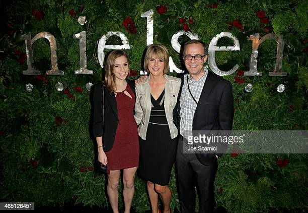 Mitch Barns CEO Nielsen and family attend the Nielsen PreGRAMMY Party at Mondrian Los Angeles on January 25 2014 in West Hollywood California