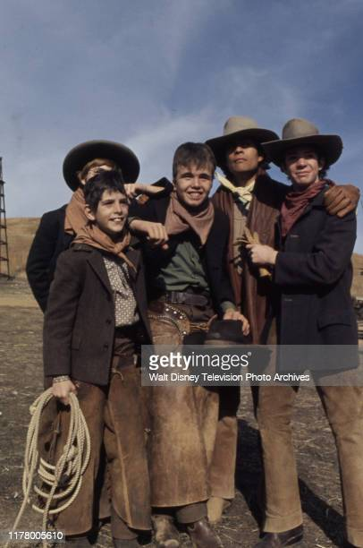 Mitch Brown, Clint Howard, A Martinez, Sean Kelly appearing in the ABC tv series 'The Cowboys', shot at the Empire Ranch.