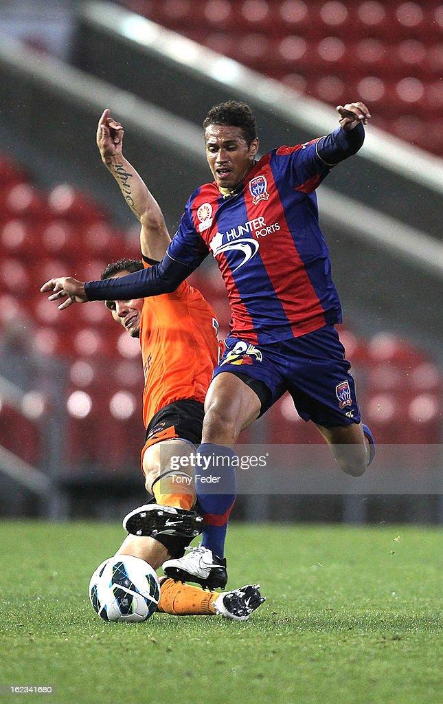 A-League Rd 22 - Newcastle v Brisbane : News Photo