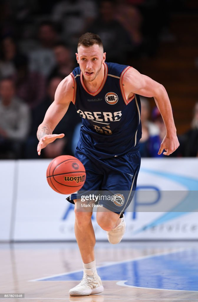 Mitch Creek of Adelaide during the round one NBL match between the Adelaide 36ers and Melbourne UInited at Titanium Security Arena on October 5, 2017 in Adelaide, Australia.