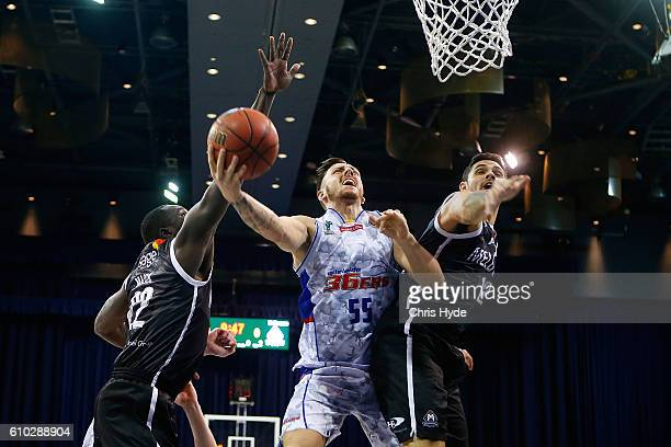 Mitch Creek of the Adelaide 36ers shoots during the Australian Basketball Challenge match between Adelaide 36ers and Melbourne United at Brisbane...