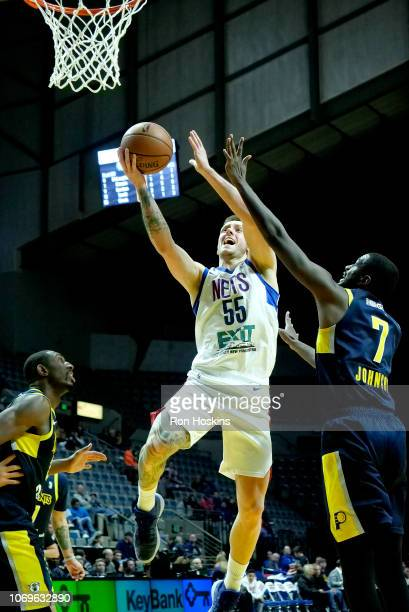 Mitch Creek of the Long Island Nets shoots the ball against the Fort Wayne Mad Ants on December 7 2018 at Allen County War Memorial Coliseum in Fort...