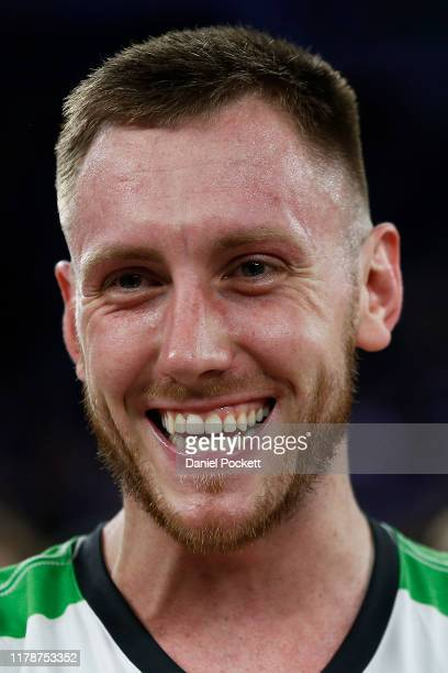 Mitch Creek of the Phoenix reacts during the round one NBL match between Melbourne United and the South East Melbourne Phoenix at Melbourne Arena on...