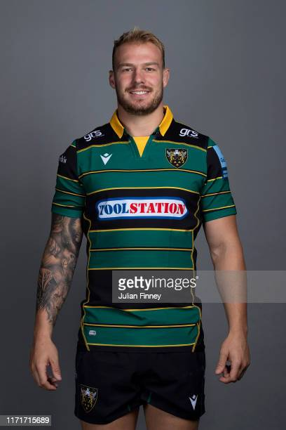 Mitch Eadie of Northampton Saints poses for a portrait during the Northampton Saints squad photocall for the 20192020 Gallagher Premiership Rugby...