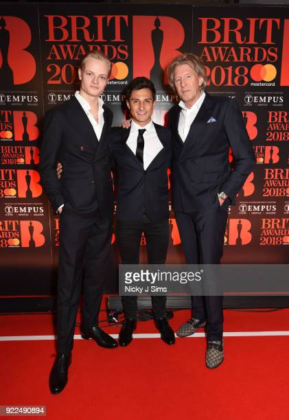 Mitch Evans and Marius Borg H¿iby Crown Princess of Norway's Son attend The BRIT Awards 2018 afterparty hosted by Tempus magazine at The...