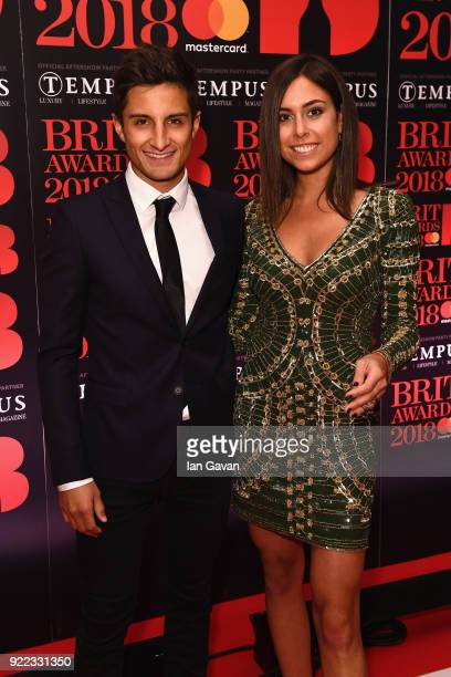 Mitch Evans and Nina Dreier arrive at the Diamond red carpet ahead of the BRITS official aftershow party in partnership with Tempus Magazine at the...