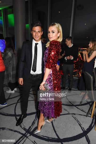 Mitch Evans and Tallia Storm attend The BRIT Awards 2018 afterparty hosted by Tempus magazine at The Intercontinental Hotel The o2 on February 21...