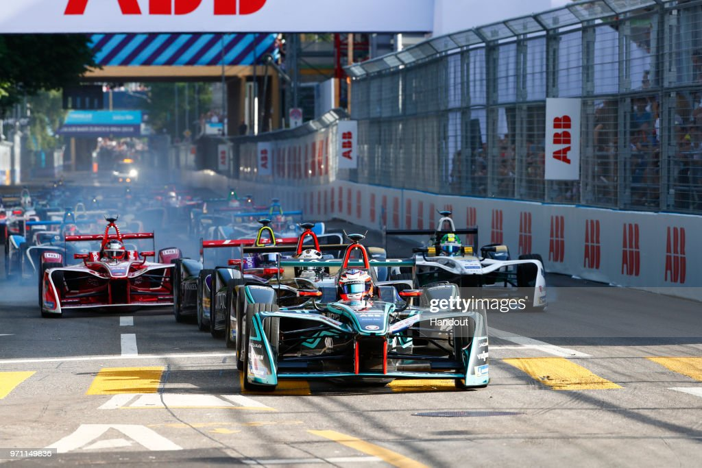 Mitch Evans (NZL), Panasonic Jaguar Racing, Jaguar I-Type II, leads the pack. on June 10, 2018 in Zurich, Switzerland.