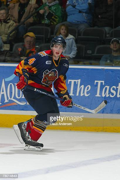 Mitch Gaulton of the Erie Otters skates in game against the London Knights played at the John Labatt Centre on January 12 2007 in London Ontario...