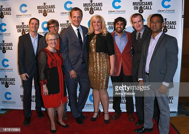 Mitch Glazier Dr Leslie Faerstein Michael Solomon Tom Poleman Alissa Pollack Vivek Twiary Scott Welch and Raj Amin attend the Musicians On Call...