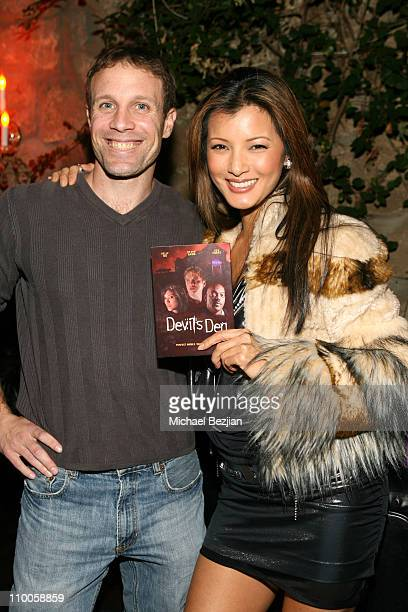 Mitch Gould and Kelly Hu during Kelly Hu's Birthday Party hosted by The Dolce Group Gavin Navarro and Jungle Tones at Les Duex in Hollywood...
