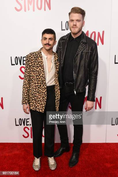 Mitch Grassi and Scott Hoying attend Special Screening Of 20th Century Fox's 'Love Simon' Arrivals at Westfield Century City on March 13 2018 in...