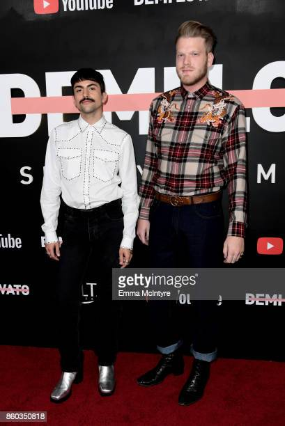 Mitch Grassi and Scott Hoying attend the 'Demi Lovato Simply Complicated' YouTube premiere at The Fonda Theatre on October 11 2017 in Los Angeles...