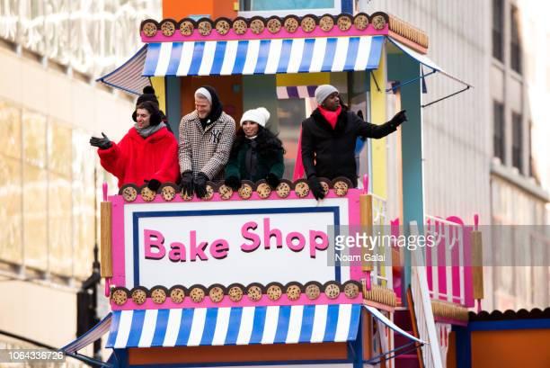 Mitch Grassi Scott Hoying Kirstin Maldonado and Kevin Olusola of Pentatonix attend the 2018 Macy's Thanksgiving Day Parade on November 22 2018 in New...