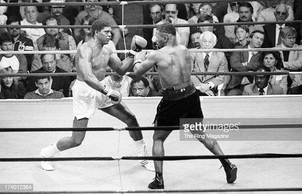Mitch Green blocks the punch from Mike Tyson during the fight at Madison Square Garden in New York, New York.Mike Tyson won by a UD 10.
