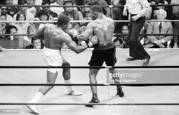 Mitch Green lands a kidney punch against Mike Tyson during the fight at Madison Square Garden in New York, New York.Mike Tyson won by a UD 10.