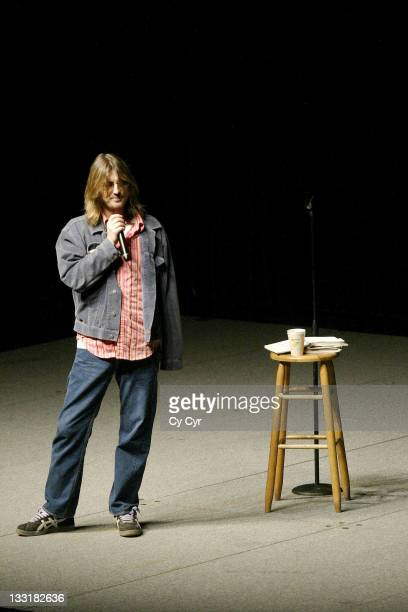 Mitch Hedberg during Comedian Mitch Hedberg Passes Away March 31, 2005 - Photographs From UCF Arena Performance April 7, 2004 at UCF Arena in...