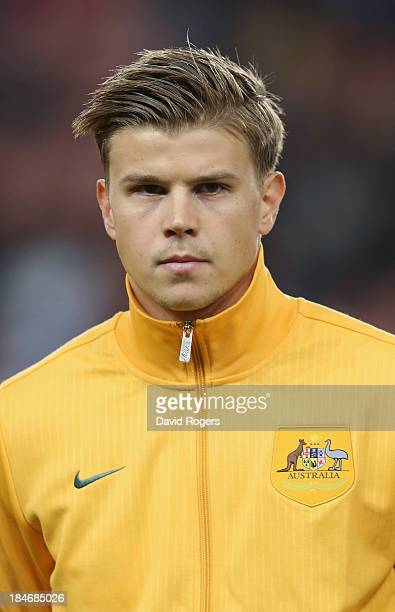 Mitch Langerak of Australia looks on during the International Friendly match between France and Australia at Parc des Princes on October 11 2013 in...