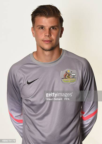 Mitch Langerak of Australia poses during the official FIFA World Cup 2014 portrait session on June 4 2014 in Vitoria Brazil