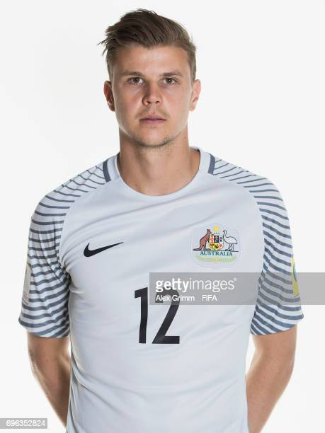 Mitch Langerak poses for a picture during the Australia team portrait session on June 15, 2017 in Sochi, Russia.