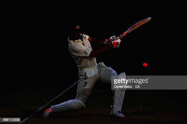 Mitch Marsh of Australia bats during day three of the Third Test match between Australia and New Zealand at Adelaide Oval on November 29 2015 in...