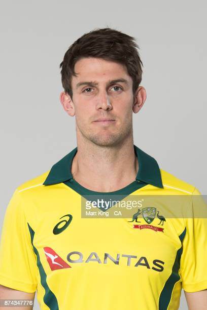 Mitch Marsh poses during the Australia One Day International Team Headshots Session at Intercontinental Double Bay on October 15 2017 in Sydney...