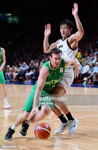 Mitch McCarron of Australia during the FIBA 2019 Asia Cup Qualifier match between the Australian Boomers and Japan at Adelaide Arena on November 27...
