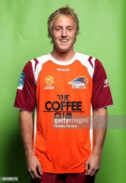 Mitch Nichols poses during the official Queensland Roar 2008/2009 Hyundai ALeague portrait session at Suncorp Stadium on July 23 2008 in Melbourne...