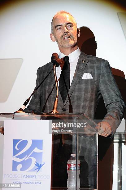 Mitch O'Farrell attends the Project Angel Food's 25th Anniversary Angel Awards 2014 honoring Aileen Getty with the Inaugural Elizabeth Taylor...