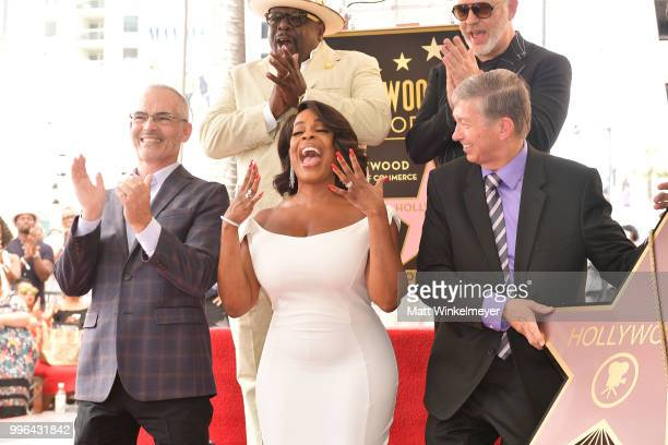 Mitch O'Farrell Cedric the Entertainer Niecy Nash and Ryan Murphyand Leron Gubler pose for a photo as Niecy Nash is honored with a star on the...