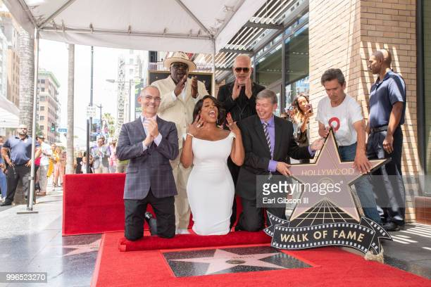 Mitch O'Farrell Cedric The Entertainer Niecy Nash Ryan Murphy and Leon Gubler pose for a photo as Niecy Nash is honored with a star on the Hollywood...
