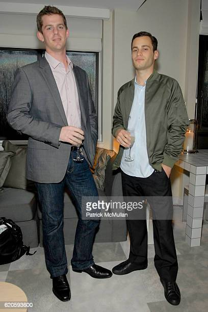 Mitch Paone and Devin Brook attend ELETTRA WIEDEMANN and JAMES MARSHALL launch JustOneFrickinDaycom At the Newly Imagined MORGANS HOTEL at Morgans...