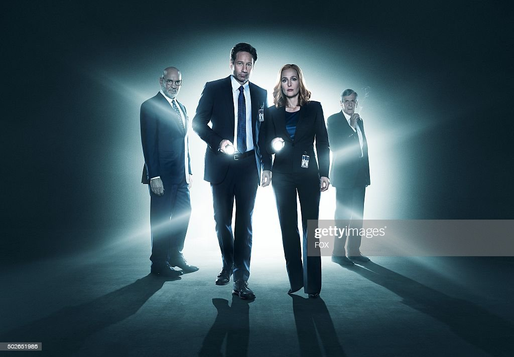 Mitch Pileggi, David Duchovny, Gillian Anderson and William B. Davis. The next mind-bending chapter of THE X-FILES debuts with a special two-night event beginning Sunday, Jan. 24 (10:00-11:00 PM ET/7:00-8:00 PM PT), following the NFC CHAMPIONSHIP GAME, and continuing with its time period premiere on Monday, Jan. 25 (8:00-9:00 PM ET/PT).