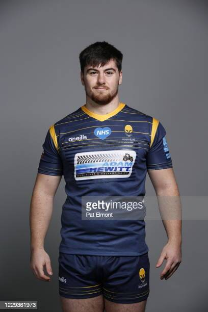 Mitch Reeve poses for a portrait during the Worcester Warriors squad photo call for the 202021 Gallagher Premiership Rugby season on on October 28...